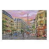 DAMKELLY Store Rue Paris - Puzzle de papel para manualidades (1000 unidades), color blanco