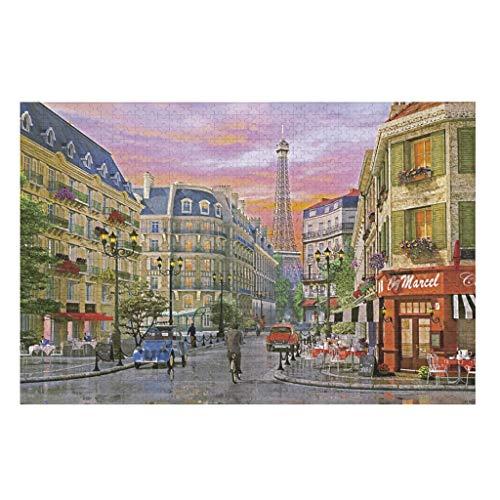 Butterfly Goods Rue Paris - Rompecabezas de papel para decoración del hogar, 500 unidades, color blanco