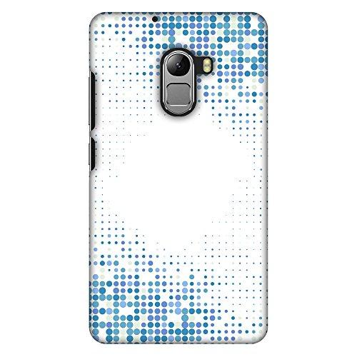 AMZER Slim Handcrafted Designer Printed Hard Shell Case Back Cover for Lenovo K4 Note A7010 - Blue Matrix