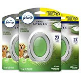 Febreze Small Spaces Pet Air Freshener, Odor Eliminator for Home, Fresh Scent, 3 Count...