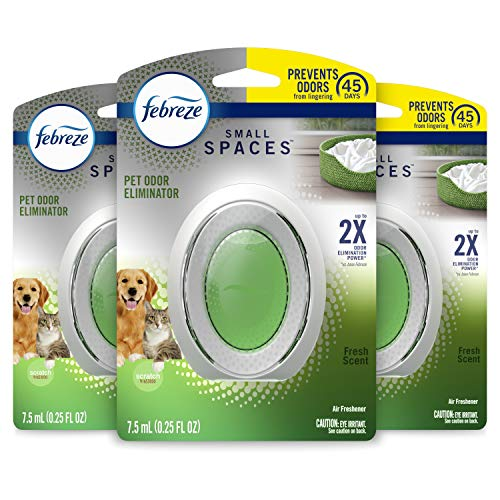 Febreze Small Spaces Pet Air Freshener, Fresh Scent, Odor Eliminator for Strong Odors (3 Count)