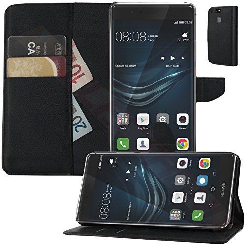 MOELECTRONIX Buch Klapp Tasche Schutz Hülle Wallet Flip Hülle Etui passend für Huawei P9 EVA-L09