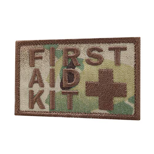 2AFTER1 Multicam First Aid Kit 2x3.25 IFAK Medic MED Trauma Paramedic Morale Fastener Patch
