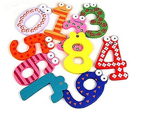 Imán para nevera con diseño de alfabeto de dibujos animados de 0 a 9 números para nevera, divertidos imanes para aprender preescolar, contar símbolos de matemáticas