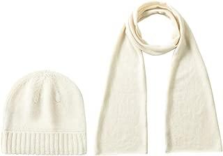 Women's 100% Pure Cashmere Scarf, Gloves, Beanie Hat Gift Box Set