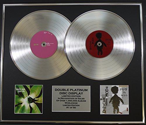 DEPECHE MODE/Cd doble Disco de Platino Record Display/Edicion LTD/Certificato di autenticità/EXCITER & PLAYING THE ANGEL