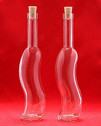 4x Botellas Vacías de Vidrio 500ml Botellas con Tapa de Corcho 0.5L Botellas para Licor/Aceite/Vinagre - Botella 32.5cm de Altura