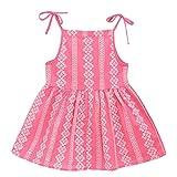 Vestido para bebé de 1 a 6 años, bohemio ajustable, tutú de princesa, para niña, vestido de noche, niña, ropa de bebé, ceremonia, fiesta, cumpleaños, bautizo, carnaval rojo sandía 18-24 Meses