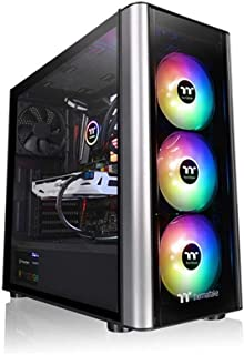 Thermaltake CA-1M7-00M1WN-00 Level 20 MT ARGB Mid Tower - Carcasa para ordenador (cristal templado), color negro