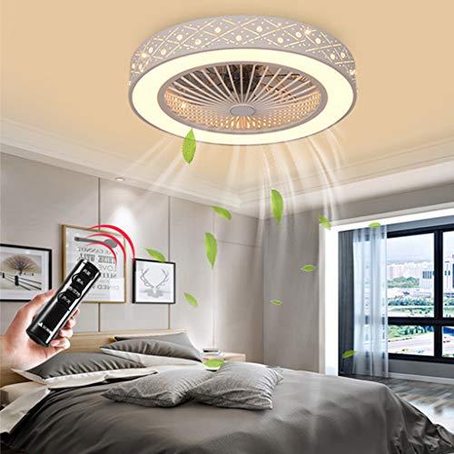 Ventilador De Techo Invisible LED Ventilador Luz De Techo Moderno 80W Regulable Con Control Remoto Ventilador Lámpara De Techo Para Sala De Estar Dormitorio Habitación De Los Niños Fan Iluminación