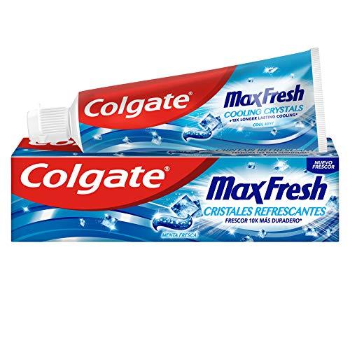 Colgate Max Fresh Blue Pasta De Dientes, Cristales Refrescantes, 75ml