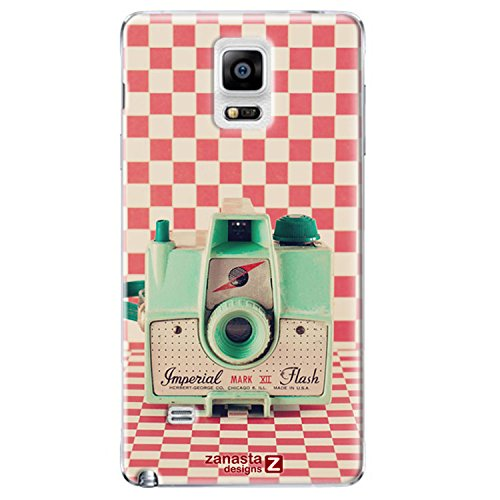 Preisvergleich Produktbild Zanasta Designs Schutzhülle Samsung Galaxy Note 4 Hülle Case Slim Cover mit Motiv Retro Kamera