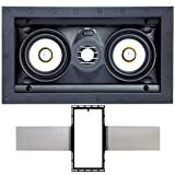 Speakercraft ASM54631 Profile AIM LCR3 Three Pivoting Dual 3' 2-Way in-Wall Speaker w/Free New Construction Bracket