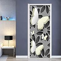 3Dドア壁壁画壁紙 バタフライ3Dドアステッカー壁デカール装飾Pvc自己接着防水