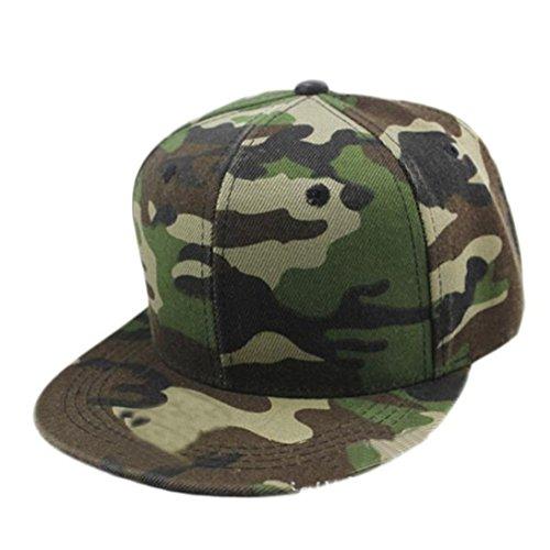 Amlaiworld Camouflage Unsex Cap Hip Hop Hut Baseballmütze (grün)