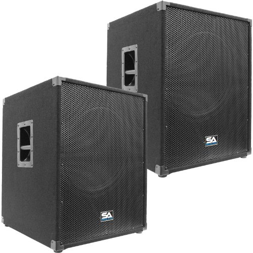 "Seismic Audio - Aftershock-18Pair - Pair of Powered PA 18"" Subwoofer Speaker Cabinets"