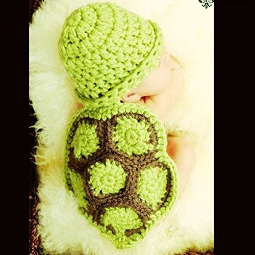 PIXNOR Cute Baby Infant Tortoise Newborn Turtle Costume Photo Photography Prop 0-6 months