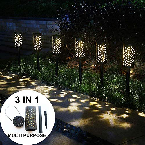LWJPP Calle del LED Luz solar del césped del hueco de la lámpara del paisaje llamas luz de la antorcha impermeable al aire libre Ruta Jardín Patio Patio Lampada (Wattage : 2pcs)
