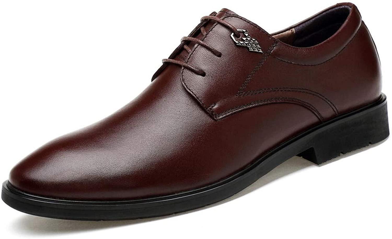S.Y.M Herren Business Oxford Klassische Britische Leder Crocodile Pattern Formelle Schuhe (Farbe   Braun, Größe   37 EU)