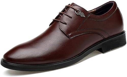 XHD-chaussures , Chaussures de de de Ville à Lacets pour Homme - Marron - Marron, 39 EU 0d5