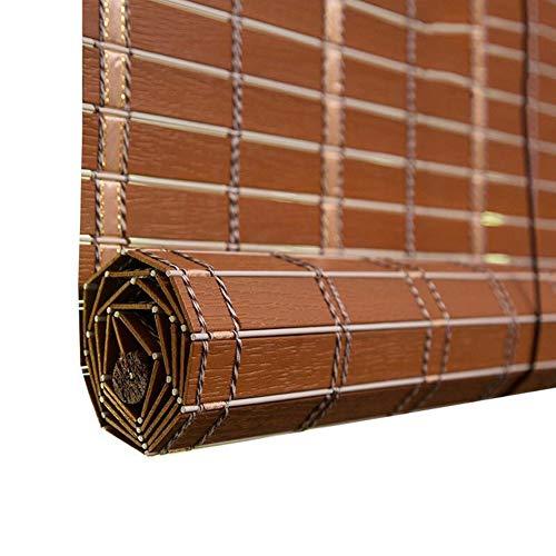 ELLENS Rideau en Bambou Naturel, Stores d'extérieur imperméables de Protection Solaire Pare-Soleil, 60% de Personnalisation du Support d'ombrage (Taille: 80cm × 90cm)