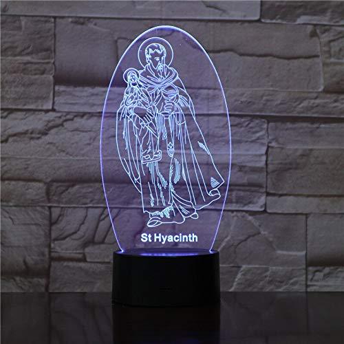 Only 1 Piece 3D Symphony Lights Easter Decoration Flash Led Rainbow Table Desk Night Light