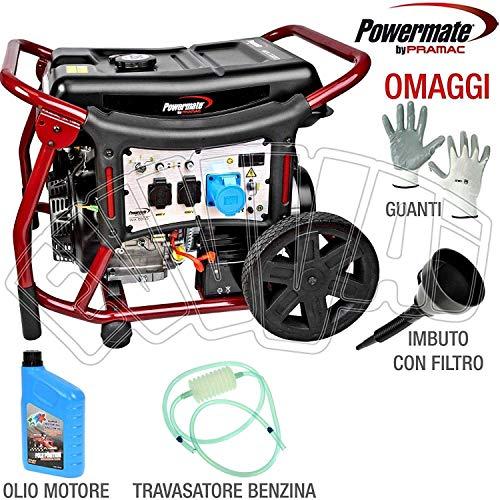 Grupo electrógeno Powermate WX6200 generador corriente AVV. Eléctrico/extractor