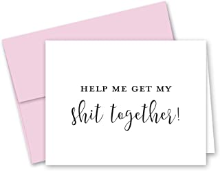 Help Me Get My Shit Together Bridesmaid Proposal Cards - 8 Will You Be My Bridesmaid Cards and 2 Maid of Honor Cards