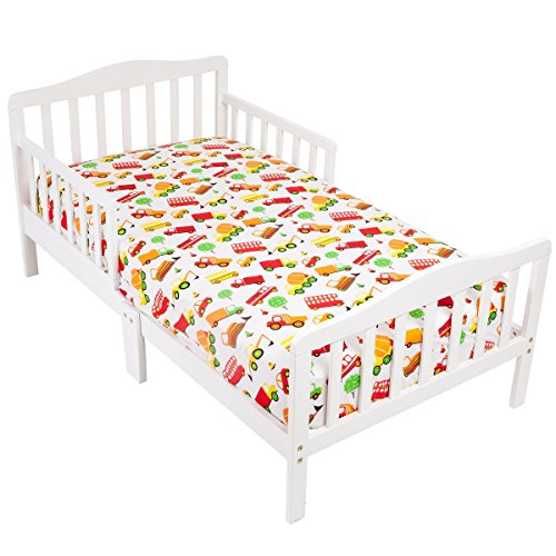 Mellanni Toddler Fitted Sheet Cars - Fits Baby Crib Too - Super Soft Kids Bedding (Cars)