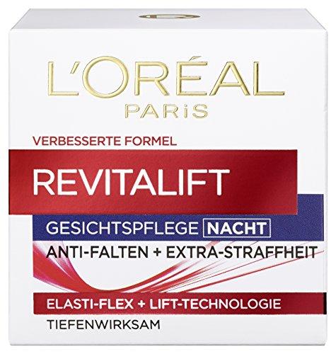L'Oreal Paris Revitalift Gesichtspflege, mit Pro-Elastin für die Nacht, gegen Falten und für eine straffe Haut über Nacht, 50 ml
