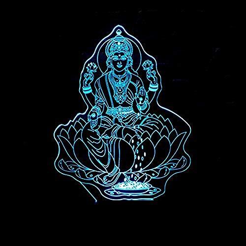 Spezial- & Stimmungsbeleuchtung Schreibtischlampen Für Kinder 3D Nachtlicht Vierhand Buddha Bild Bunte 3D Touch Control Lampe Heimtextilien Gebetslicht