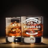 polar-effekt Whiskyglas Personalisiert 330 ml - Geschenk-Idee für Männer - Tumbler Whiskeyglas mit Gravur Name und Jahreszahl mit Motiv Original-Exclusive - 3