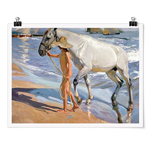 Bilderwelten Poster - Joaquin Sorolla - Il Bagno del Cavallo - Carta Opaca 60x80cm