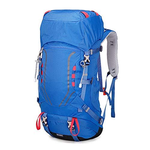 LXXYJ Waterproof Camping Backpacking,Outdoor Trekking Backpack,Hiking Backpack Suitable for Women Men Child Running Cycling Mountaineering Travel,Blue