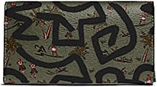 Coach KEITH HARING UNIVERSAL PHONE CASE WITH HULA DANCE PRINT OLIVE GREEN