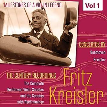 Milestones of a Violin Legend: Fritz Kreisler, Vol. 1