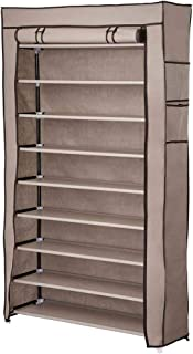 Yescom 10 Tier Shoe Rack Shelf Closet 45 Pair with Cover 5/8
