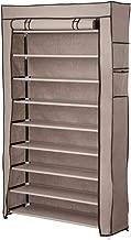 Yescom 10 Tier Shoe Rack Shelf Closet 45 Pair with Cover 5/8