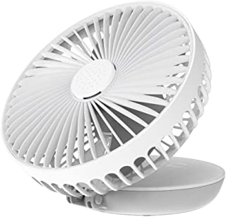 ZCP Portable Quiet USB Fan Clip Personal Desk Fan Traveling,White 2 Speed,360/° Adjustable,Cooling Fans for Baby Stroller