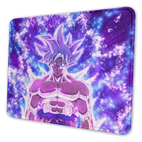 Dragon Ball Super Goku - Alfombrilla de ratón para ordenador portátil, bordes cosidos para oficina, 7 x 8,6 cm