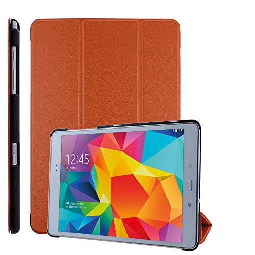 COOVY Funda Ultra Delgada para Samsung Galaxy Tab A 9.7 SM-T550 SM-T555 SM-P550 SM-P555 Carcasa Protectora Inteligente con Sistemas de Soporte y Auto-sueño/Estela   Naranja