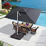 PURPLE LEAF 9' X 11' Patio Umbrella Outdoor...