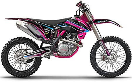 2004 EXC Surge Black Base Senge Graphics kit Compatible with KTM
