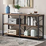 Festnight Sideboard Console Table Hall Table with 3 Drawers&2 Shelves for Living Room Hallway White 115x30x76 cm Wood