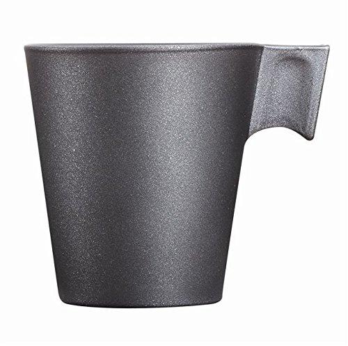 Luminarc 8012324,0 Tasse Verre Loft Stone, Noir, 22 ml, 10,0 x 10,0 x 8,55 cm