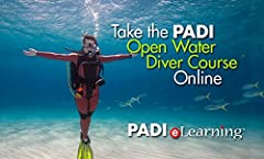 A flexible way to complete the classroom portion of the PADI Open Water Diver Course Complete all chapters and tests online through PADI eLearning Purchase from us and we send you a unique log-in code Confined water/Open water dives still required fo...