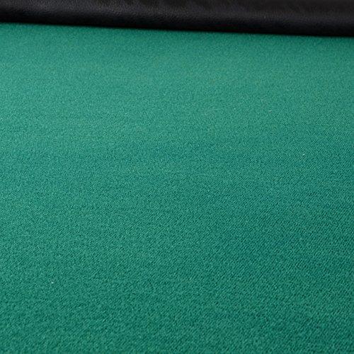 Nexos Deluxe Casino Pokertisch klappbar L 215 x B 113 x H 79 cm, Getränkehalter Armlehnen Chiptray grüne Pokerauflage Klapptisch für 10 Spieler - 3