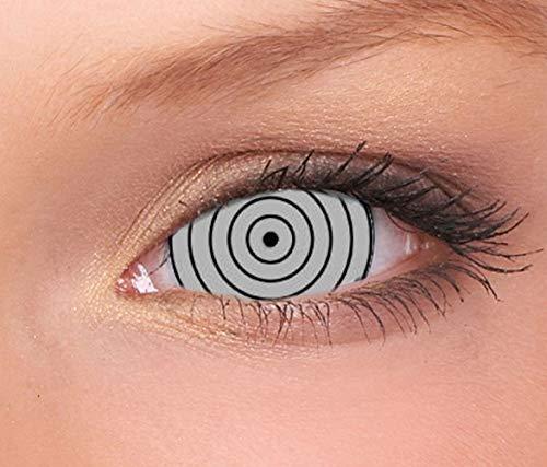 Farbige Mini Sclera Kontaktlinsen Lenses - 27 Modelle - 17mm, 1Paar (2 Stück), ohne Stärke, Gratis Behälter (Target Mini Sclera)