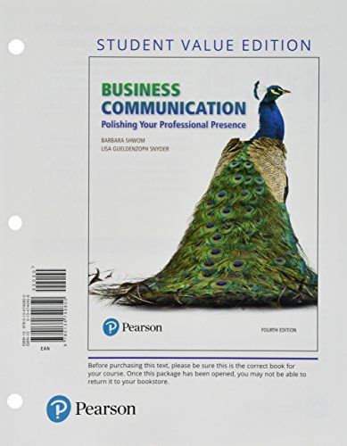 Business Communication: Polishing Your Professional Presence, Student Value Edition Plus MyLab Business Communication wi