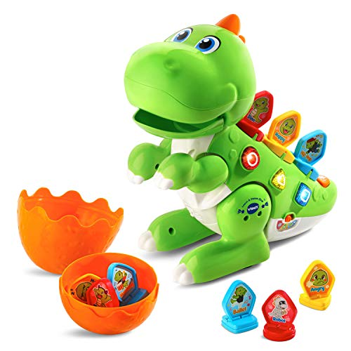 VTech Learn & Dance Dino Baby Interactive Toy, Educational Baby Musical Toy with Shapes Sorting & Sound, Ideal Christmas Gifts for Babies & Toddlers From 2 Years Old, Green